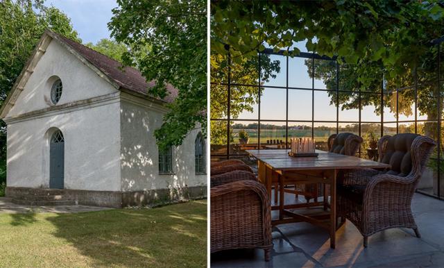 Gamla kalkstenskapellet på Gotland är ett riktigt semesterparadis