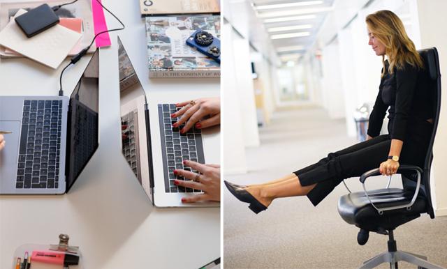 Så tränar du enkelt på jobbet – med hjälp av en skrivbordsstol!