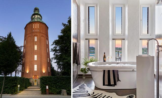 Veckans hem är det gamla vattentornet som förvandlades till en paradvåning