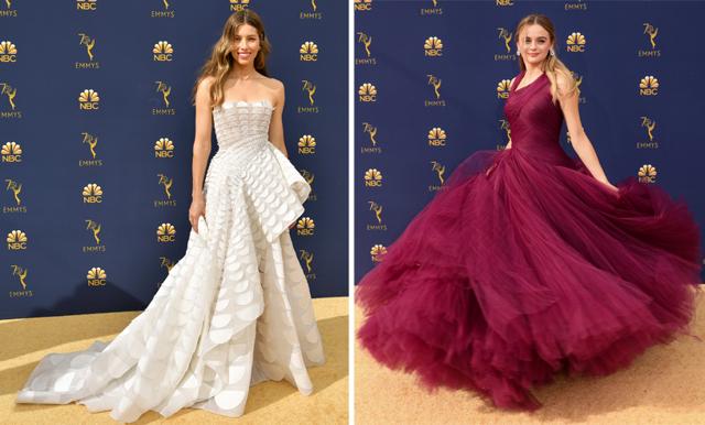 Maxade kjolar och stilsäkra klassiker – här är finaste klänningarna från Emmygalan 2018