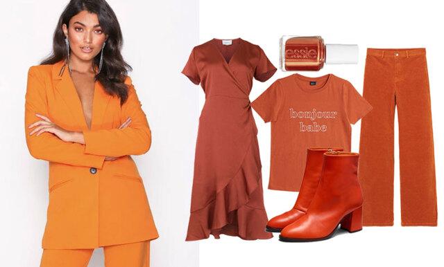 Stilsäker i orangea toner – 20 plagg i höstens hetaste färg