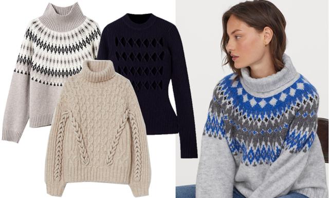 Stickade tröjor med mönster – 32 favoriter som lär sälja slut i vinter