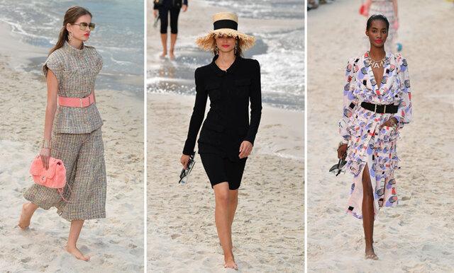 Chanel tog stranden till catwalken – visningen under Paris Fashion Week bjöd på extra ALLT