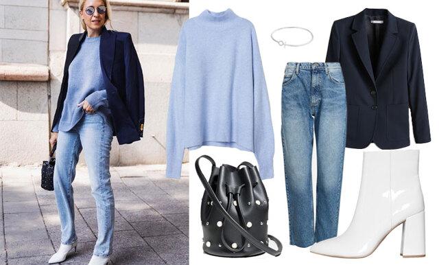 Stickat, jeans och kostymer - sno stilen av stilsäkra Emilia de Poret!