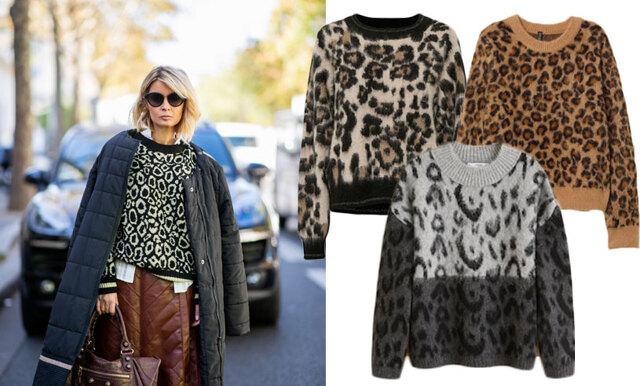 Mönstret vi inte kan få nog av – här är 10 stickade tröjor i leopard!