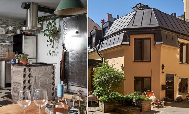 Charmiga gårdshuset på Södermalm stjäl våra hjärtan – kan nu bli ditt!