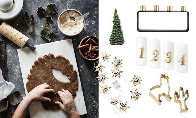 Ljusstakar, glöggkoppar och pepparkaksformar - allt du behöver inför första advent!