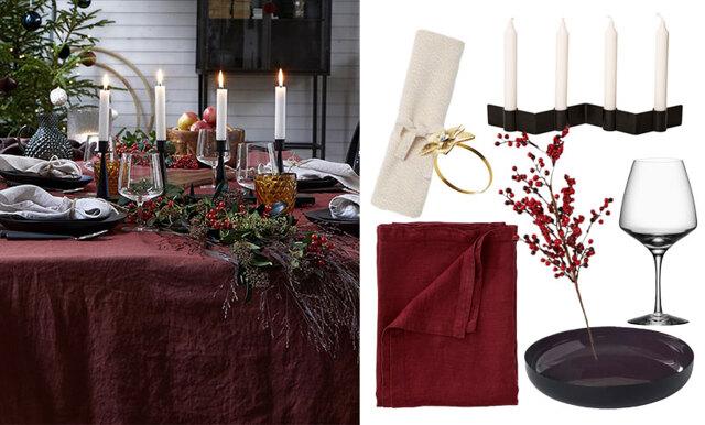 Inför decembers alla middagar - inspireras av 5 vackra bordsdukningar till julen 2018!