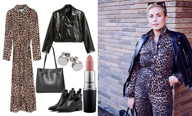 Leopard, byxdressar och skinnmaterial – sno gravidstilen av Maja Nilsson Lindelöf!