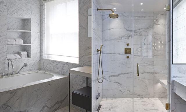 Så får du drömbadrummet i marmor – för under 500-lappen!