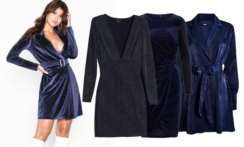 30 mörkblå festklänningar – perfekt till nyårsafton 2018