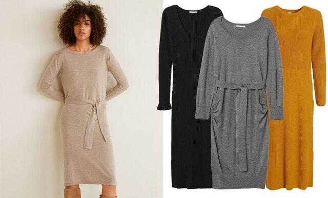 Var stilsäker i kylan – 17 stickade klänningar att klicka hem genast!
