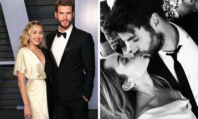 Miley Cyrus och Liam Hemsworth har gift sig – första bilderna!