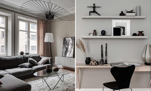 Veckans hem är drömmiga tvåan med Göteborgs gulligaste kakelugn