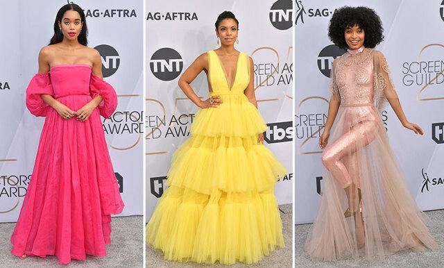 Färgstarkt och utstickande detaljer - här är de bäst klädda från SAG-awards