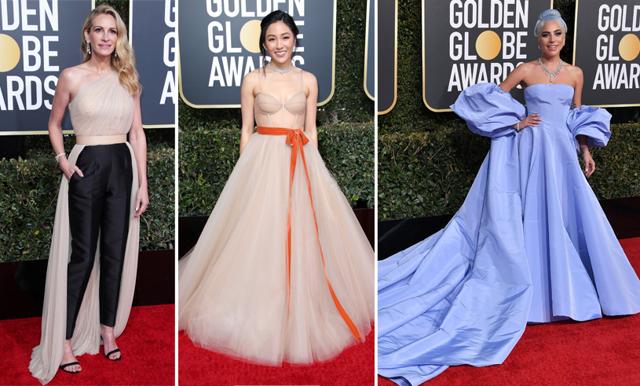 Pampiga klänningar och stora kjolar – här är de bäst klädda under Golden Globe 2019