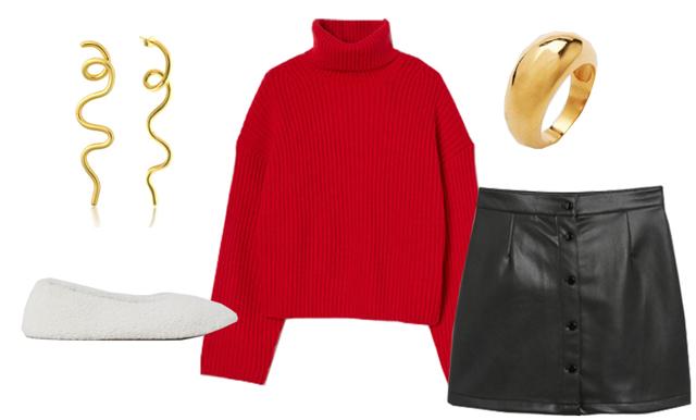 Stilsäker julkänsla! Så stylar du den röda tröjan i december