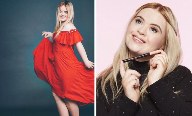 Kate är första modellen med Downs syndrom som frontar ett stort skönhetsmärke!