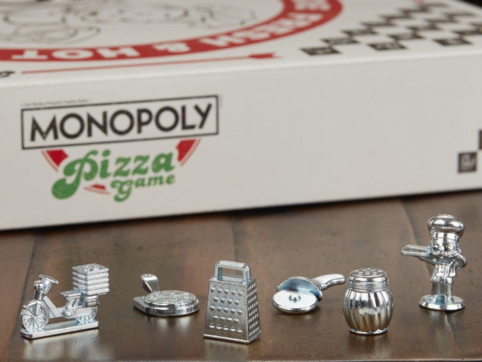 Monopol-pizza-spelpjäser