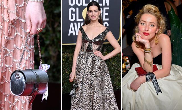 Detaljen du missade – här är budskapet bakom populära accessoaren på Golden Globe