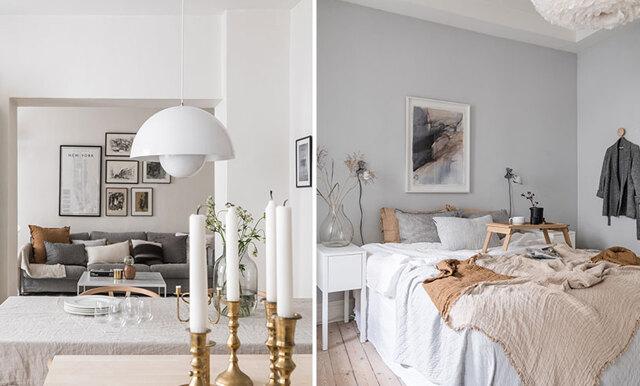 Veckans hem är en beige och harmonisk inredningsdröm i Göteborg