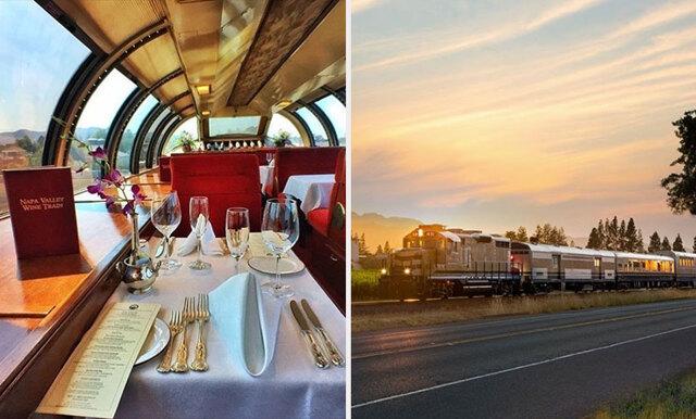 Vin + tåg= sant! Besök magiska platser och drick vin med det lyxiga vintåget!