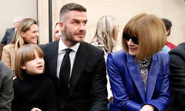 Beckhams pricksäkra skämt om dotterns och Anna Wintours frisyrmatchning