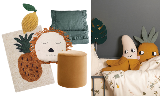 Gult, grönt och beige – vårens 17 finaste detaljer till barnrummet