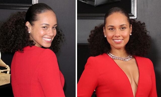 Osminkat och fräscht - Därför ledde Alicia Keys Grammy Awards utan smink