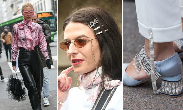 Trendspaning från Milano Fashion Week 2019: Spexiga klackar och knytblusar tog över gatorna!