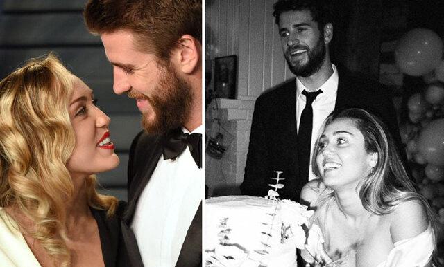 Miley Cyrus delar med sig av magiska bilder från bröllopet med Liam Hemsworth