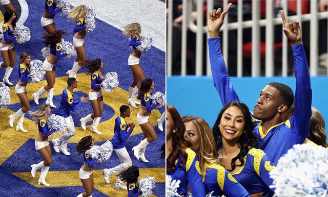 Super Bowl 2019 går till historien – här gör manliga cheerleaders succé på scen
