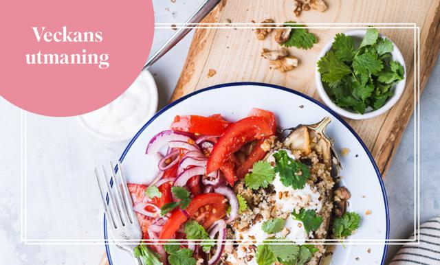 Veckans utmaning med Cassandra Bundstedt – äta vegetariskt under 2 veckor
