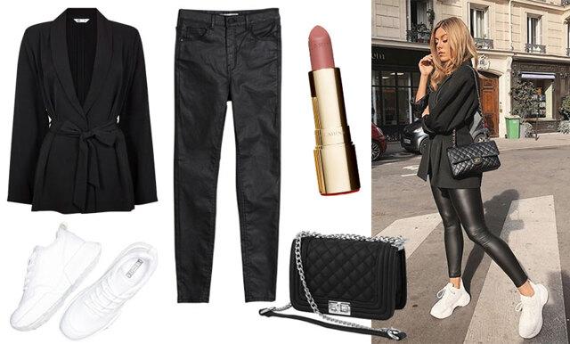Sno stilen av Bianca Ingrosso - Skinnbyxor och chunky sneakers