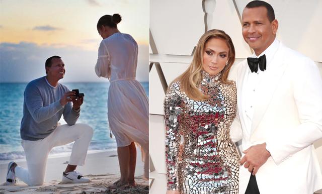 ÅH! Jennifer Lopez delar med sig av privata bilder från förlovningen