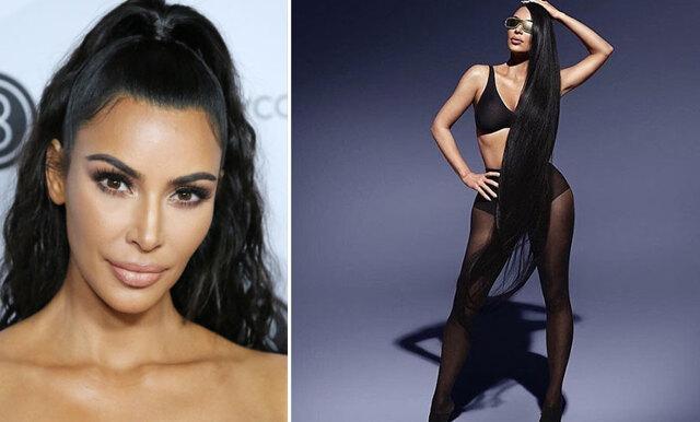 Vem är vem? Se bilderna från när Kim Kardashian plåtades med sina dubbelgångare