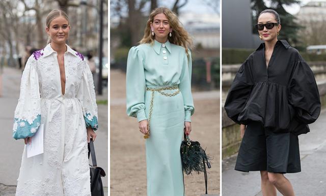 80-talsvibbar på Paris Fashion Week när puffiga ärmar tar över!
