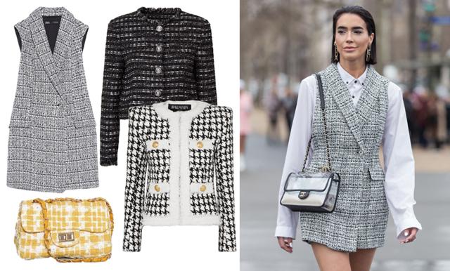 Tweed från topp till tå – här är vårens stora mode-comeback!