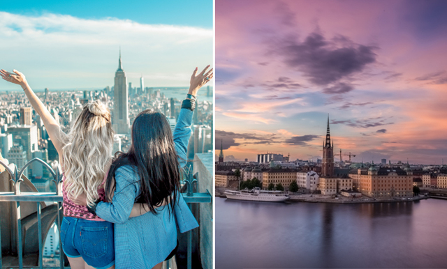 Topp 10 – hit vill svenskarna åka på weekendresa i vår!