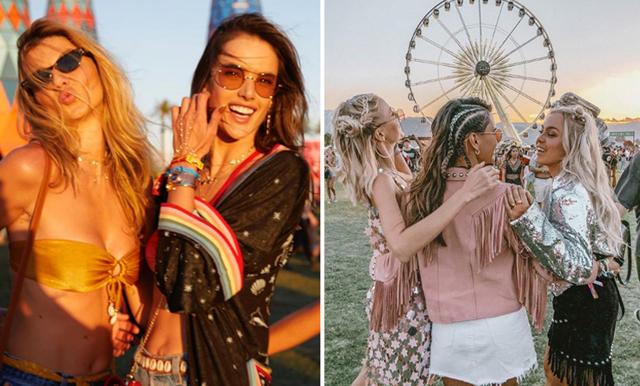 BILDBONANZA från Coachella – lekfulla outfits bland kändiseliten