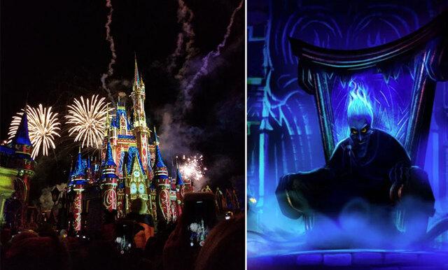 Festa med Maleficent och Ursula när skurkarna tar över Disneyland
