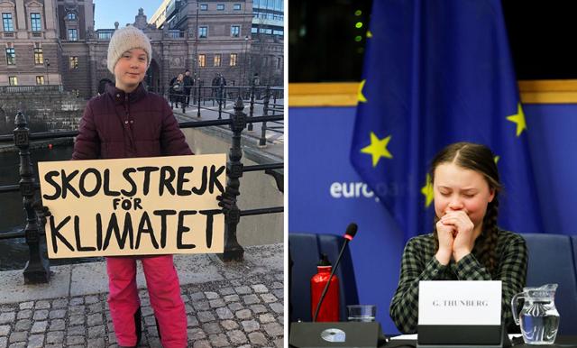"""Greta Thunberg i tårar under EU-tal: """"Att göra ert bästa räcker inte"""""""