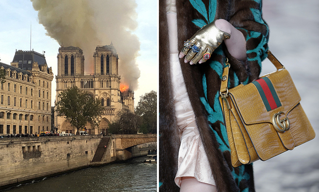 Gucci och Louis Vuitton donerar 300 miljoner euro till uppbyggandet av Notre-Dame