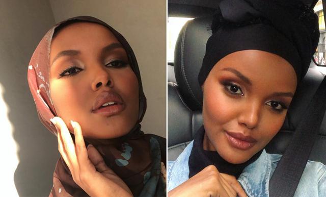 """Modellen Halima Aden är den första att bära hijab och burkini i """"Sports Illustrated"""""""