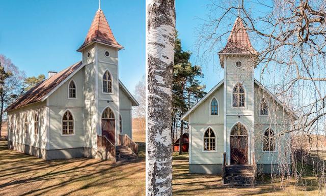 Veckans hem är den magiska Gotlandskyrkan med de vackra fönstren