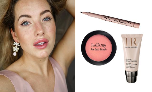 Vårsäkra makeup-looken med Evelina Andersson