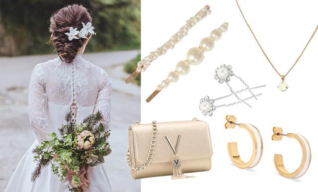 Pärlor och guld – 17 vackra accessoarer att bära på din bröllopsdag
