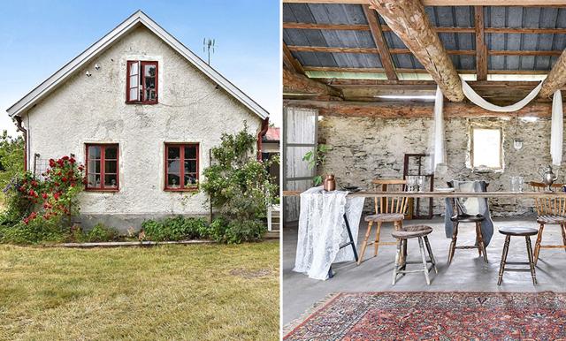 En sommardröm – veckans hem är ett magiskt kalkstenshus på Gotland