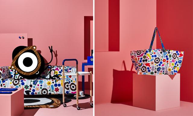 Lekfullt och färgrikt när Ikea släpper designsamarbete mellan modeprofil och konstnär