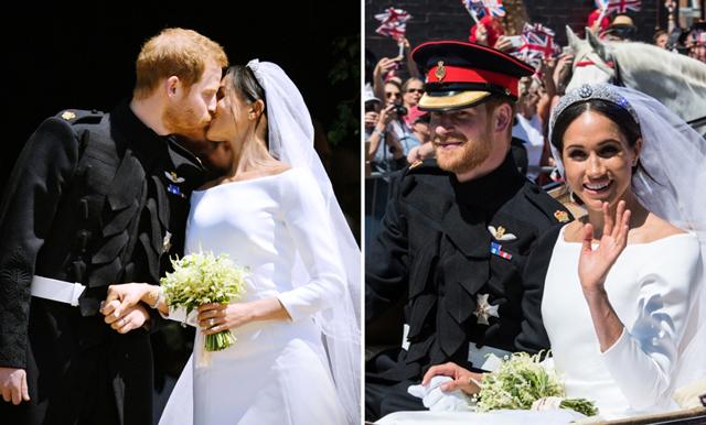 Prins Harry och Meghan Markle delar med sig av privata bilder från bröllopet – se dem här!